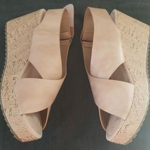 Pierre Dumas Cork Comfort Wedge Sandals